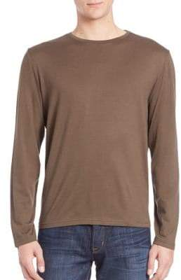 Saks Fifth Avenue Crewneck Long Sleeve Tee