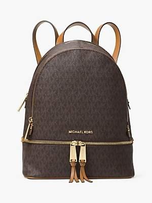 Michael Kors MICHAEL Rhea Logo Backpack, Brown