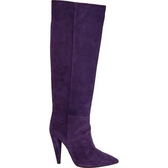 Pinko Purple Suede Boots