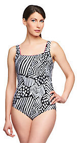 Silver by Gottex Tribal Dance 1-Piece Swimsuit $40.56 thestylecure.com