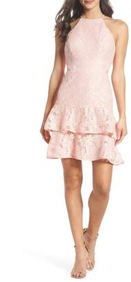 Xscape Evenings Ruffle Tier Lace Party Dress