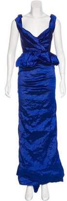 Nicole Miller Peplum Evening Dress