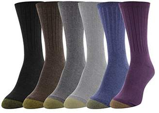 Gold Toe Women's 6-Pack Casual Ribbed Crew Sock