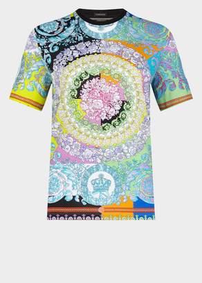 Versace Women's Technicolor Baroque Print T-Shirt