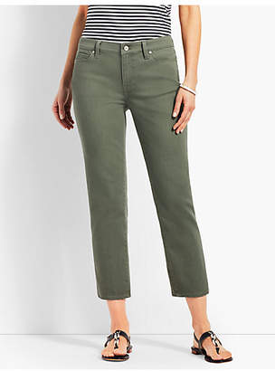 Talbots Colored Denim Straight Leg Crop