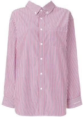 Balenciaga Swing Oversized Striped Shirt