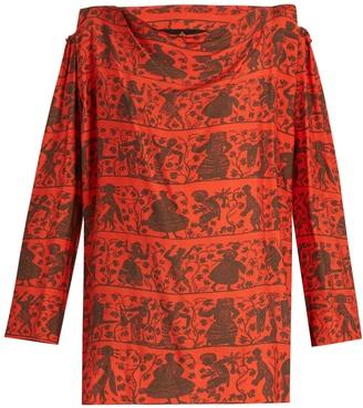 VIVIENNE WESTWOOD ANGLOMANIA Fatima dance-print habotai blouse