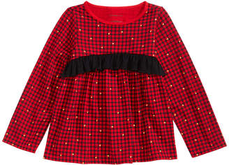 First Impressions Toddler Girls Long-Sleeve Check Cotton Top