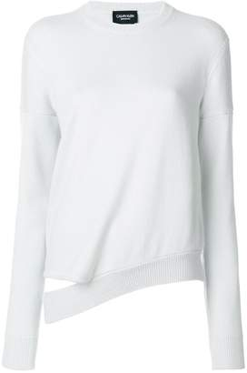 Calvin Klein distressed crew neck jumper