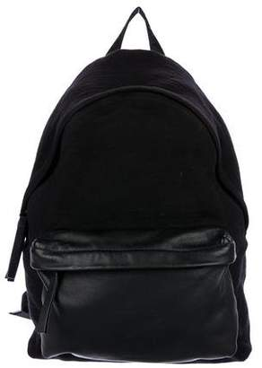 Givenchy Leather-Trimmed Canvas Backpack