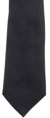 Christian Dior Geometric Pattern Silk Jacquard Tie