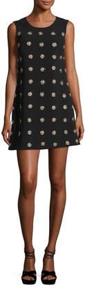 Elizabeth and James Lindsey Embellished Sleeveless Mini Shift Dress