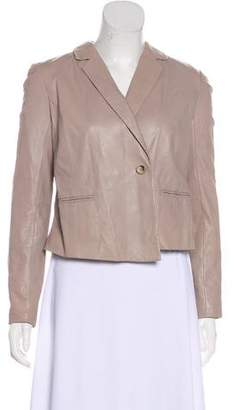 J Brand Notch-Lapel Leather Jacket