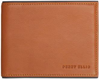 Perry Ellis Men Portfolio Bifold Leather Wallet