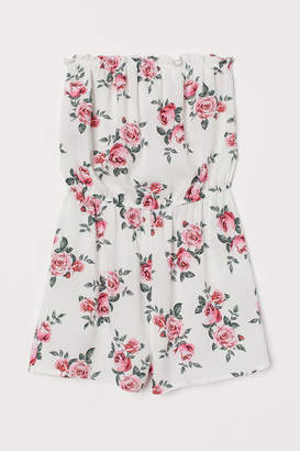 H&M Strapless Jumpsuit - White