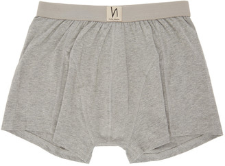 Nudie Jeans Grey Solid Boxer Briefs $35 thestylecure.com