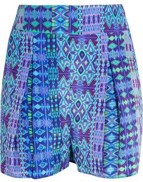 Matthew Williamson Printed Silk Crepe De Chine Shorts