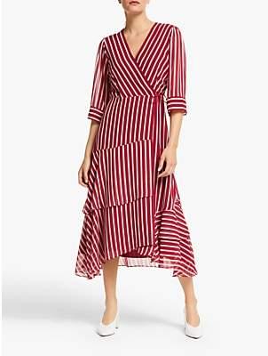 Marella Fortuna Stripe Dress, Red