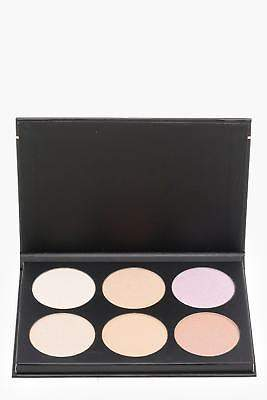 boohoo NEW Womens Highlight Gleam Palette in Black size One Size