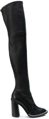 Casadei studded sole over-the-knee boots