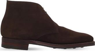 Crockett Jones Crockett & Jones Mens Dark Brown Tetbury Chukka Desert BootsS