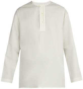 Lemaire Henley cotton-twill shirt