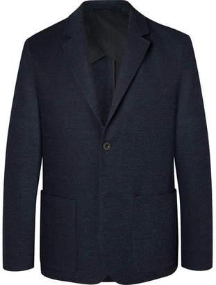 Mr P. Navy Slim-Fit Unstructured Virgin Wool-Blend Bouclé Suit Jacket