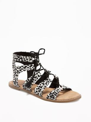 Animal-Print Gladiator Sandals for Women $29.94 thestylecure.com