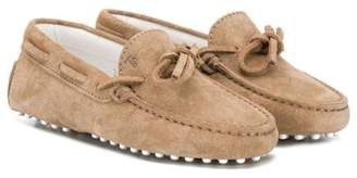 Tod's Kids bow detail loafers