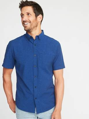Old Navy Slim-Fit Built-In Flex Everyday Textured Shirt for Men