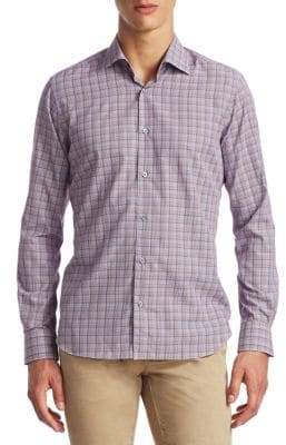Saks Fifth Avenue COLLECTION Twill Cotton Button-Down Shirt