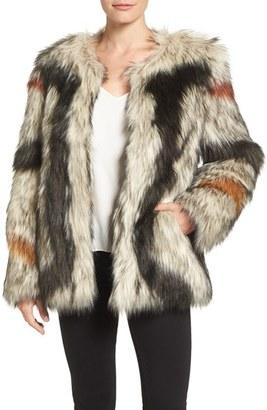 Women's Trina Turk 'Paisley' Faux Fur Coat $395 thestylecure.com