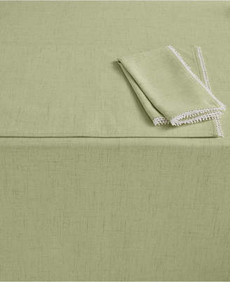 "Lenox French Perle 60"" x 84"" Pistachio Tablecloth"