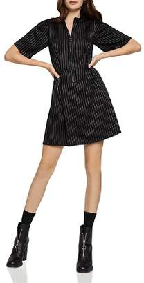 BCBGeneration Pinstriped Zip-Front Dress