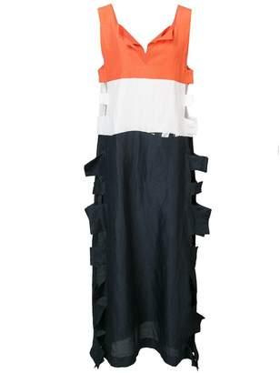 Tsumori Chisato colour block midi dress