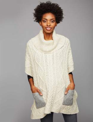 A Pea in the Pod Flap Pocket Maternity Poncho Sweater