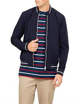 Paul & Shark Contrast Zip And Piping Bomber Jacket