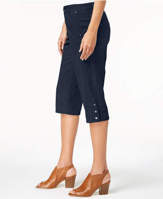 Style&Co. Style & Co Snap-Button Capri Pants