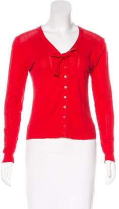 Marc by Marc Jacobs Tie-Accented Open Knit Cardigan