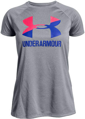Under Armour Big Girls UA TechTM Logo Graphic T-Shirt