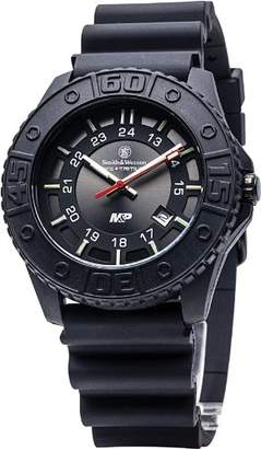 Smith & Wesson CampCo Men's SWW-MP18-BLK M&P Swiss Tritium H3 Dial Rubber Band Watch