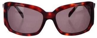 Versace Oversize Tinted Sunglasses