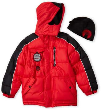 Weatherproof Boys 8-20) Two-Piece Hooded Puffer Coat & Hat