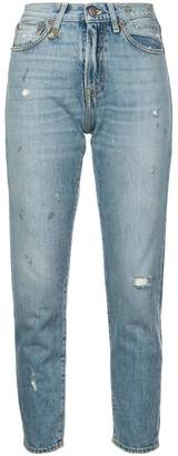R 13 distressed girlfriend jeans