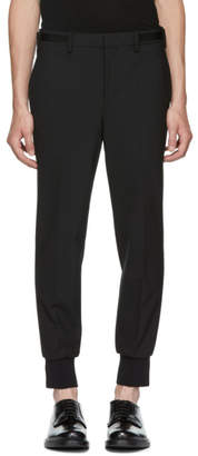 Neil Barrett Black Side Strap Trousers