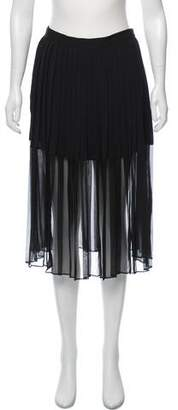 By Malene Birger Pleated Semi-Sheer Skirt