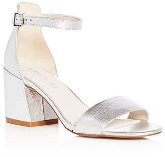 Kenneth Cole Women's Hannon Leather Ankle Strap Block Heel Sandals