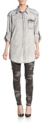 Camo Print Skinny Jeans $69.50 thestylecure.com