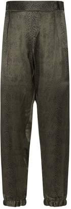 ATM Anthony Thomas Melillo Snake Print Silk Sweatpants