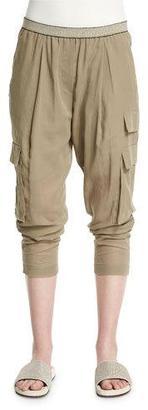 Brunello Cucinelli Safari Tapered-Leg Pants, Green Tea $1,345 thestylecure.com
